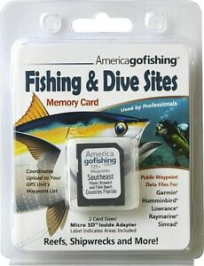 Southeast Florida Fishing & Dive Sites Memory Card - NEW