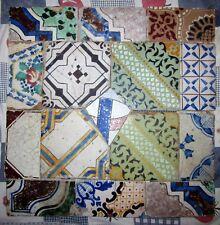 riggiole mattonelle antiche maioliche pannello 60x60 vintage pezzi unici   c182