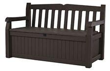 70 Gallon Storage Bench Deck Box Seat Eden All Weather Outdoor Patio Garden New