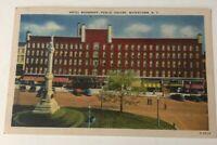 Watertown NY Postcard Hotel Woodruff Public Square Vintage New York