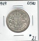 Canada 1949 Silver 50 Cents EF/AU