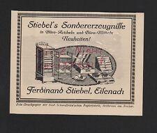 EISENACH, Werbung 1921, Ferdinand Stiebel Büro-Artikel