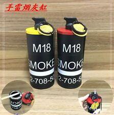 Cool 2 in 1 DUMMY M18 Grenade Model Windproof Jet Flame Lighter + Metal Ashtray