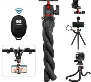 Flexible Small Octopus Mount Mini Tripod Bluetooth Remote Stand Holder for Phone
