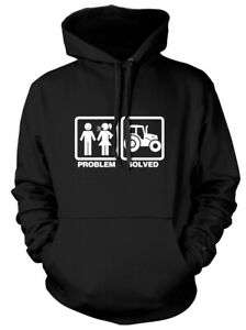 Problem Solved Farming Tractor Mens Funny Unisex Womens Hoodie