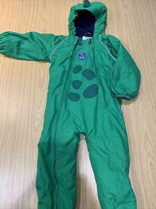 Jojo Maman Bebe 2-3 Years Puddle Snow Suit Dinosaur Green