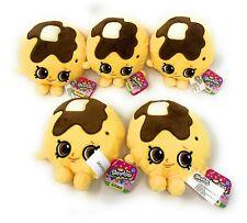 """Shopkins 6"""" Plush Toys - Pancake Jake Stuffed Animals - Lot of 5 - NEW"""