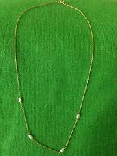 Collier mit Biwa-Perlen in Silber 835/000 vergoldet