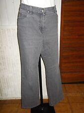 Pantalon jeans gris stretch GERRY WEBER  ROMY W36 46F coupe droite strass 17VH35