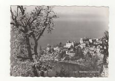 Montreux Aux Printemps Switzerland Rp Postcard 387a
