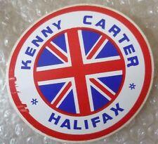 Speedway Autocollant Kenny carter Halifax avec un drapeau de l'Union Badge (Nouveau *)