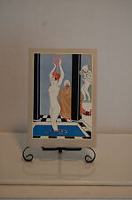 GEORGES BARBIER; LA VASQUE/REPRODUCTION. HOLLAND 1977 NOTE CARD