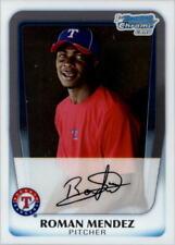 Baseball-mlb Balls Signed Texas Rangers Top Prospect Roman Mendez Sweetspot Baseball Coa!! Cheap Sales