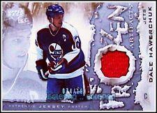 UD ARTIFACTS 2007 DALE HAWERCHUK NHL WINNIPEG JETS #FADH FROZEN GAME JERSEY /100