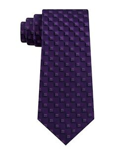 Kenneth Cole Reaction Men's  Classic Geometric Tie Purple $49.50