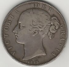 1845 Victoria Silver Crown | British Coins | Pennies2Pounds