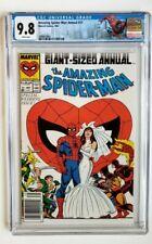 AMAZING SPIDER-MAN ANNUAL #21 CGC 9.8 *NEWSSTAND* MARVEL 1987 *W/ CUSTOM LABEL*