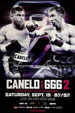 GENNADY GOLOVKIN vs. CANELO ALVAREZ (2): Original Full Size HBO Boxing Poster A