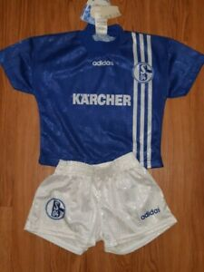 SCHALKE 04 KIDS SET SIZE 3 96 97 AND BACKPACK SIGNED BY STAR DARIO RODRIGUEZ