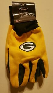Green Bay Packers Mens NFL Glove Solid Outdoor Winter Utility Gloves