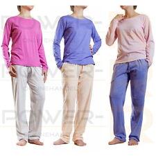 Damen Schlafanzug Pyjama Hausanzug Gr S M L XL XXL 36 38 40 42 44 48 50 52 54