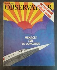 Le Nouvel Observateur N°335, Avril 1971. Concorde, Gainsbourg, Klarsfeld...