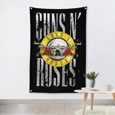 Rock Band Heavy Metal Music Hanging Flag Banner Retro Cloth Art Wall Decor gun