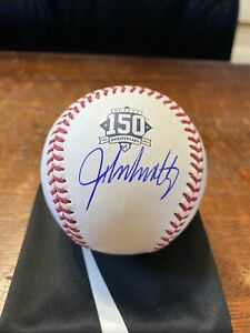 John Smoltz Signed Atlanta Braves 150th Anniversary Logo Baseball PSA DNA Coa