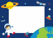30 thank you cards invitation birthday baby shower astronaut planets blank notes