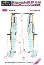 LF Models 1/32 MESSERSCHMITT Bf-109E Late Scheme Part 2 Camouflage Paint Mask