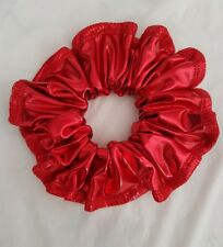 Shiny metallic red hair scrunchie (Other colours available)