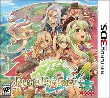 NEW Rune Factory 4  (Nintendo 3DS, 2013) NTSC