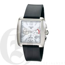Charles Hubert Mens Chronograph Square Watch Quartz 3729-W Black Band