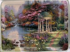 1998 Thomas Kinkade Garden Of Prayer Collectable Plate Bradford Exchange Coa New