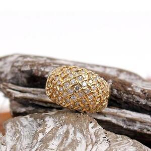 Diamant Brillant circa 1 ct  Ring 18 Kt Gelbgold