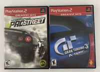 Lot of 2 PlayStation 2 Gran Turismo 3 A-Spec & Need For Speed Prostreet Games