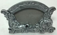 """Plastic Cinderella Carriage photo frame Silver Approx 4""""x3 1/4""""/ 2""""x2 1/2"""" photo"""