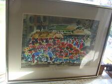 Vtg Lewis Suzuki Watercolor San Fransisco Powell & Hyde Cable Car California Era