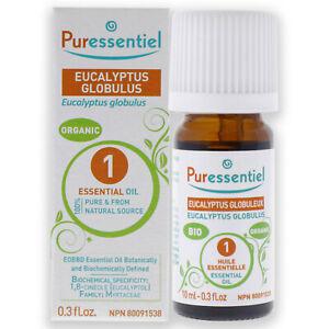 Organic Essential Oil - Eucalyptus Globulus by Puressentiel for Unisex - 0.33 oz