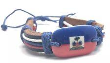 Haiti Flag Bracelet Creole Haitian Handmade Reggae Caribbean Island