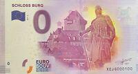BILLET 0  EURO SCHLOSS BURG 2  ALLEMAGNE  2017  NUMERO 100