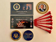 Trump Golf Ball Marker & Tee Set | NEW - The Presidential Seal + 1 Decal