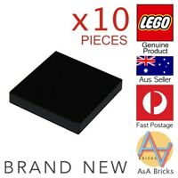 x10 LEGO® 2 x 2 Tile - Black - Part 3068 - Brand New Part