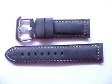 - 24mm Watch Strap Band buckle - 24/22mm Grigio Leather Panerai Style