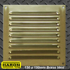 Brass Air Vent 150 x 150mm Metal Grille Register Louvred