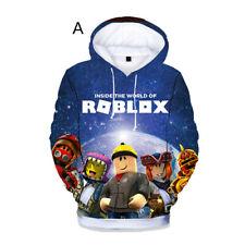 Для мальчиков девочек Kids roblox мультфильм 3D печать толстовка с капюшоном весна осень толстовка пуловер