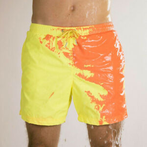New men's swimming trunks, beach shorts, discoloration shorts in case of water