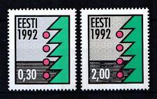 Estland 1992 postfrisch MiNr. 195-196  Weihnachten