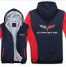 Warm Thicken Chevrolet Corvette Hoodie Jacket Cosplay Sweater fleece coat Team