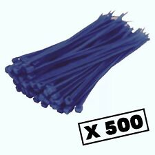 500 Blue Strong Nylon Cable Ties Quality Zip Tie Wraps Plastic Thin Small 140mm